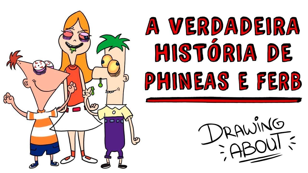 Phineas e Ferb CREEPY 💀 A verdadeira História   Draw My Life Português