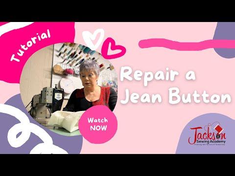 Repair A Jean Button