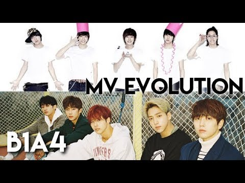Evolution of: B1A4 - Music Videos (2011-2017)