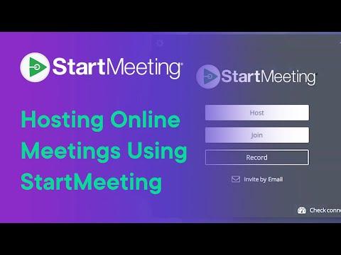 Hosting Online Meetings Using StartMeeting