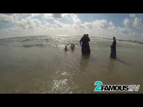 2Famous.TV almost gets Taken by Dangerous Waves in Tyre, Lebanon.
