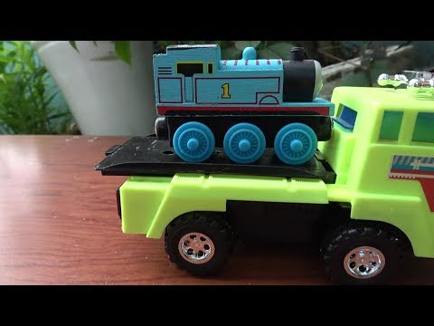 Thumbnail: THOMAS THE TRAIN Thomas and Friends Tayo the Little Bus Disney Cars Toys Lightning McQueen toy play!