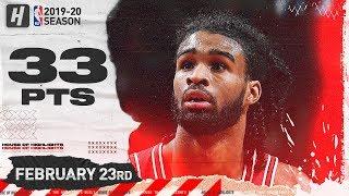 Coby White 33 Points Full Highlights   Wizards vs Bulls   February 23, 2020