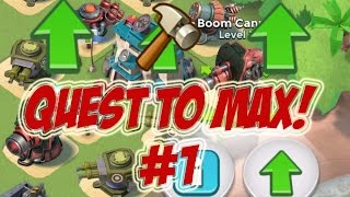 5X MAX BOOM CANNONS | Boom Beach | QUEST TO MAX #1