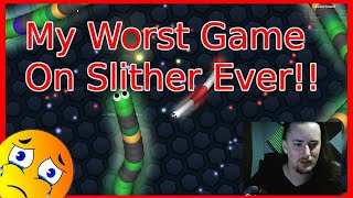 SLITHER.IO FIRST TIME PLAYING - WORST ATTEMPT EVER