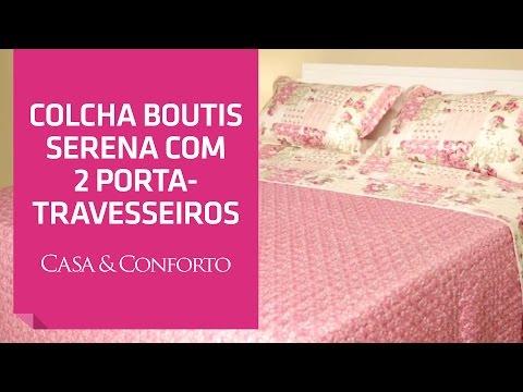 Colcha Boutis Serena com 2 Porta-Travesseiros Casa & Conforto | Shoptime