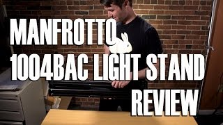 Product Review: Manfrotto 1004BAC-3 Light Stand Kit