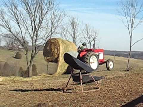 Hydraulic round bale unroller youtube