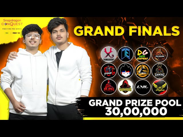 Snapdragon Conquest Pro Series Grand Finals    Ft TSG ARMY, ELITE ,TOTAL GAMING -Garena Free Fire