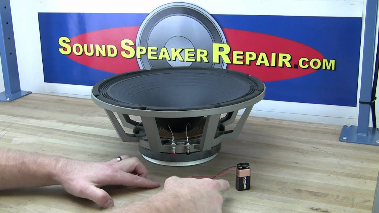 Testing A Speaker With 9 Volt Battery Youtube Dual Voice Coil Subwoofer Wiring 2 Ohm Coils