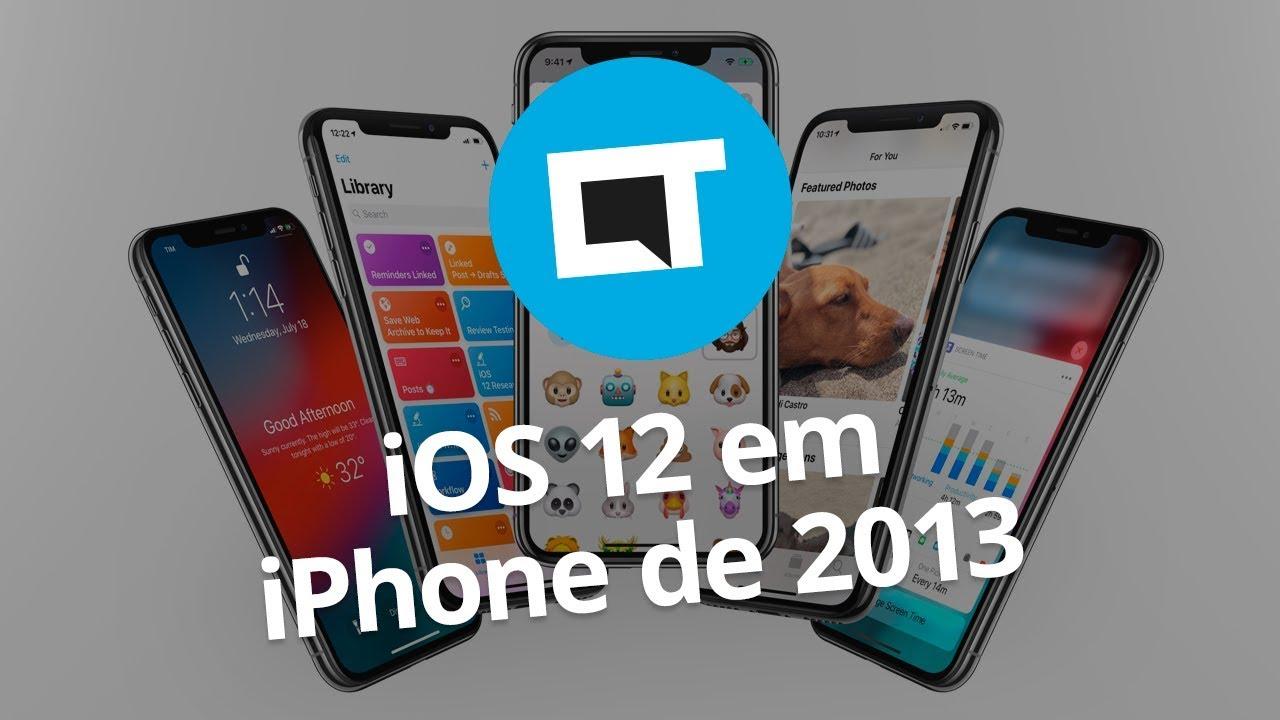 ba825ab6e iPhone 5S com iOS 12 fica mais rápido e ganha novas funções - Vídeos -  Canaltech