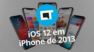 iPhone 5S com iOS 12 fica mais rápido e ganha novas funções