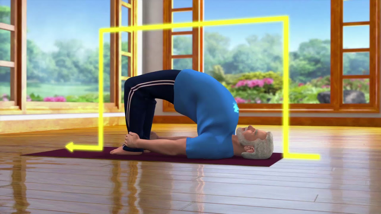 Yoga with Modi : Setubandhasana Hindi