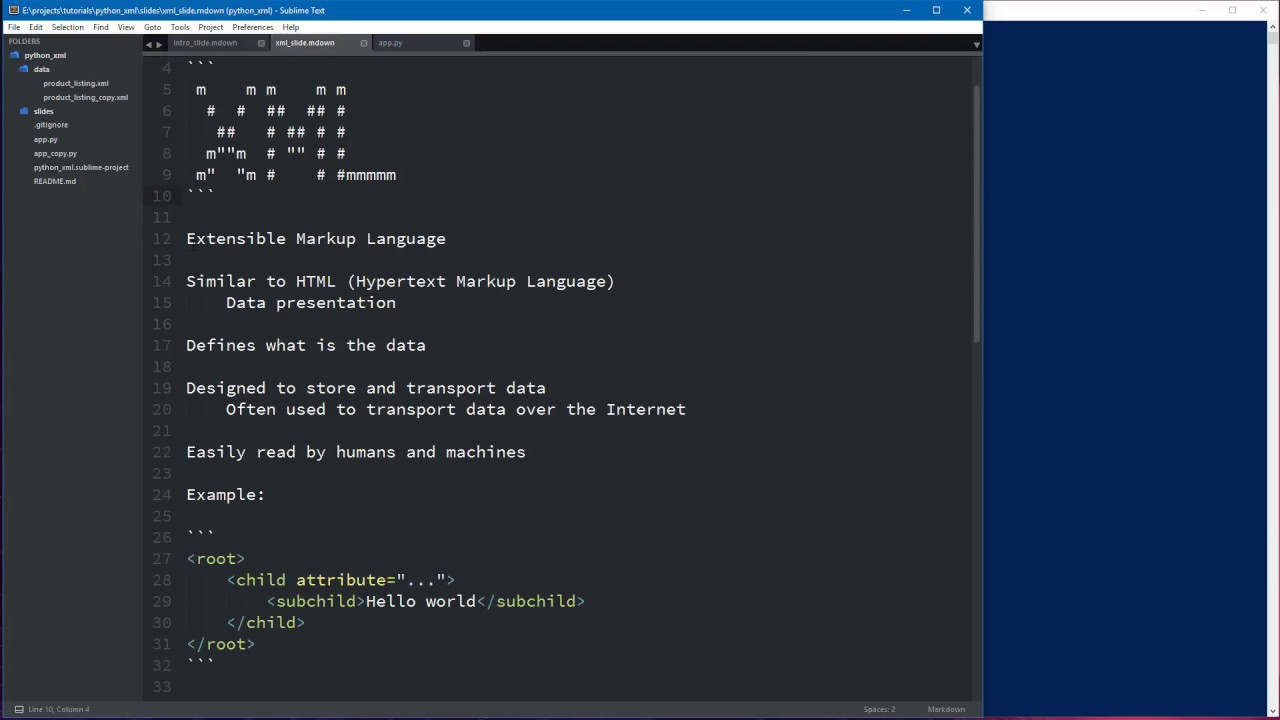 Reading and Writing XML with Python 3.6.1 - YouTube