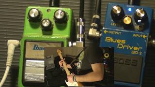 Ibanez Tubescreamer TS9 vs Boss Blues Driver BD-2