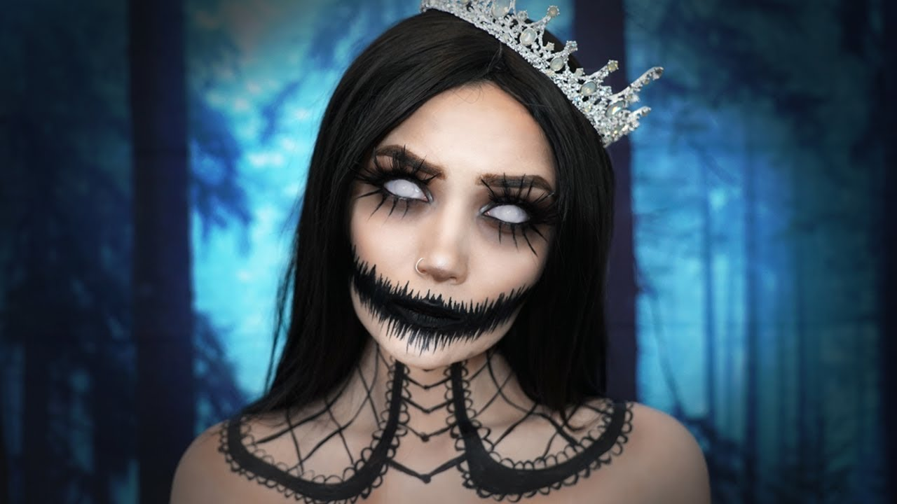 queen of the dead halloween makeup tutorial youtube. Black Bedroom Furniture Sets. Home Design Ideas