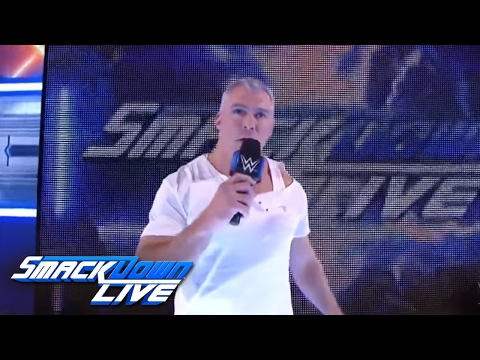 Thumbnail: An injured Shane McMahon says he will battle AJ Styles at WrestleMania: SmackDown LIVE, Mar 14, 2017