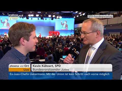 SPD-Bundesparteitag: Interview mit Kevin Kühnert vom 21.01.2018