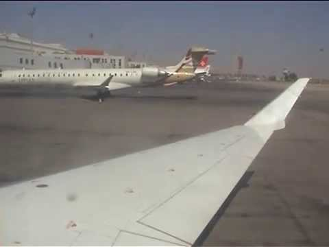 Bombardier CRJ 900 ✈ Libyan Airlines landing at Tripoli International Airport from Madrid - Barajas