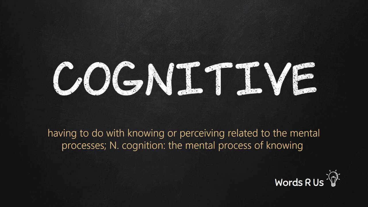 How to Pronounce COGNITIVE in American English