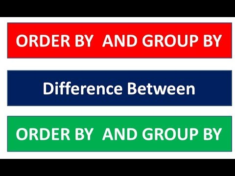 Order BY Clause , Group By Clause , Difference between Order by and Group By