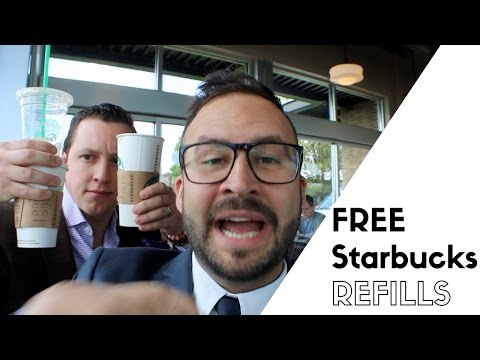 How to actually get FREE STARBUCKS REFILLS