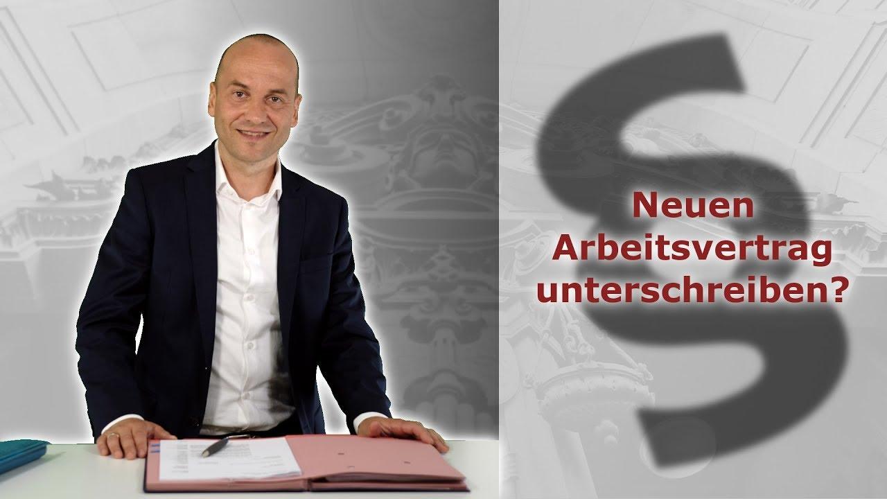 Neuer Arbeitsvertrag Unterschreiben Fachanwalt Für Arbeitsrecht