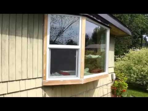 Cedar trim on the How to Install a Bay Window Series with Jim