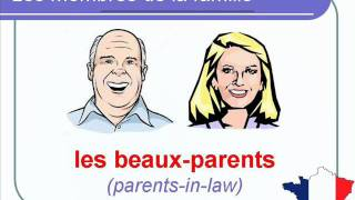 French Lesson 38 - FAMILY MEMBERS in French Membres de la famille Miembros de la familia en francés