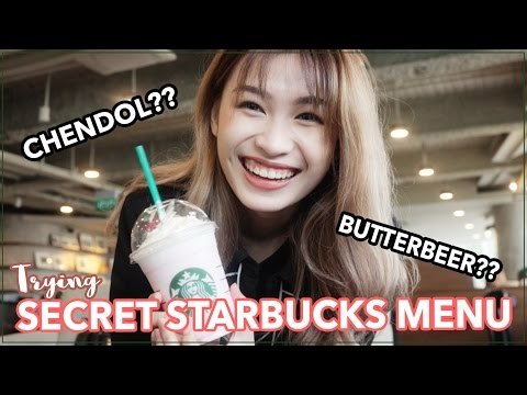 TRYING Secret Starbucks Menu - CHENDOL & BUTTERBEER FRAPPUCCINO??