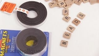 How to Make Scrabble Tile Magnets using Magnetic Tape