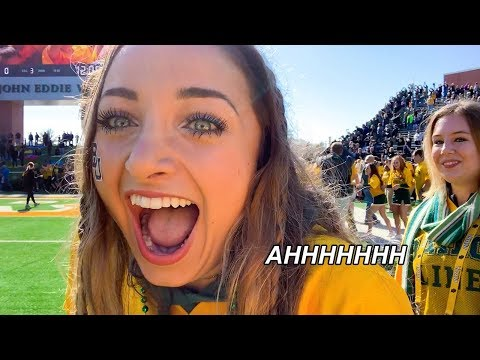 Running from BEARS!   College Life: We Ran the Baylor Line