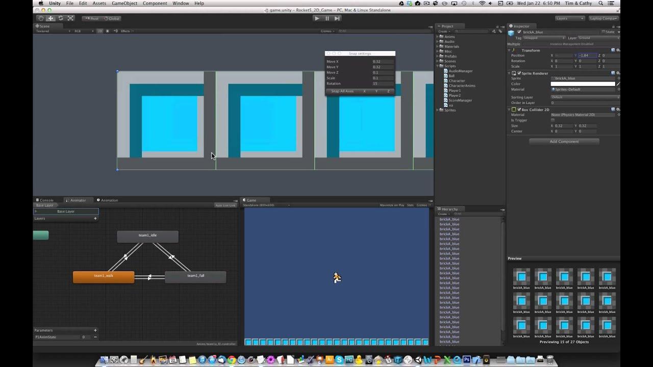 Unity 4 3 Tutorial Make A 2d 2 Player Platformer Game