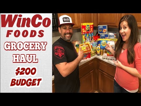 WINCO FOODS GROCERY HAUL on a BUDGET | SHOP WITH ME | PHILLIPS FamBam Grocery Hauls
