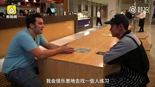 A student from America can speak Shanghainese like native speaker