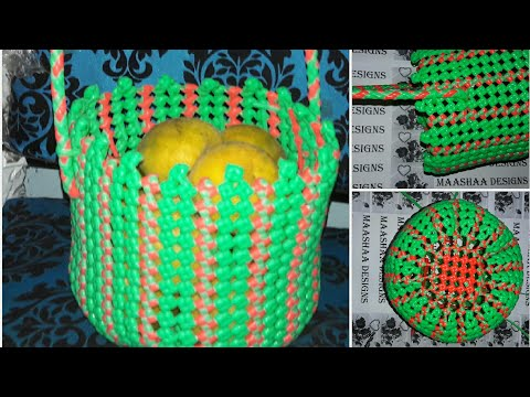How to make round shaped basket with new model handle in Tamil(handle model7)
