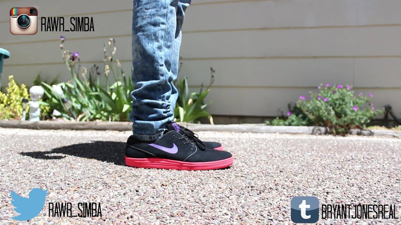 the best attitude 83eb5 279ff Nike Sb lunar Stefan Janoski hyper grape On Feet