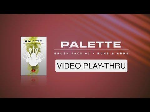 """WALK-THRU for """"Palette Brush Pack 03 - Runs & Arps"""" (Red Room Audio)"""