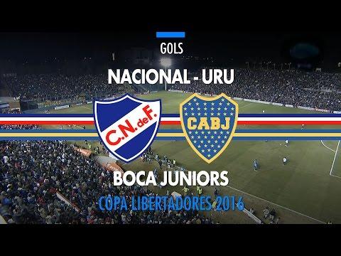 Gols - Nacional-URU 1 x 1 Boca Juniors - Libertadores - 12/05/2016