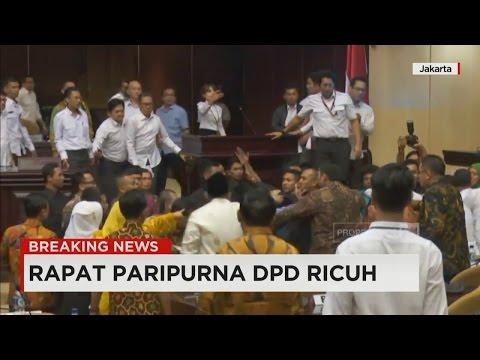 Rapat Paripurna DPD Ricuh, Terjadi Aksi Saling Dorong