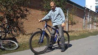 Как научиться самостоятельно кататься ездить на велосипеде взрослому и ребенку(Мой ВК https://vk.com/id263241899 Полезные видео с моего канала, о ремонте велосипеда. 1) Задняя втулка колеса обслуживан..., 2015-09-19T13:03:19.000Z)