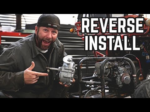 Go Kart Reverse Kit Install Pt  1 - YouTube