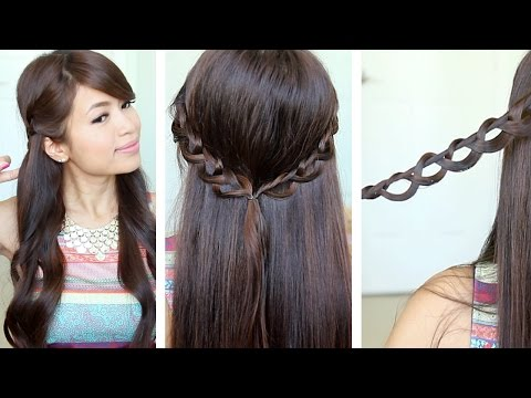 Chain Braid Headband Hairstyle for Medium Long Hair Tutorial - Bebexo  - xIP1dgFithk -