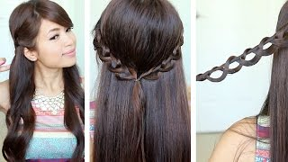 Chain Braid Headband Hairstyle for Medium Long Hair Tutorial Thumbnail