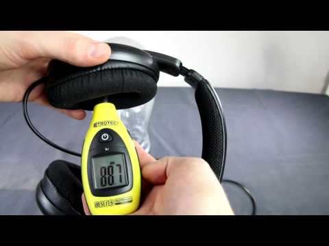 Philips SHP8900 headphones sound dB SPL test