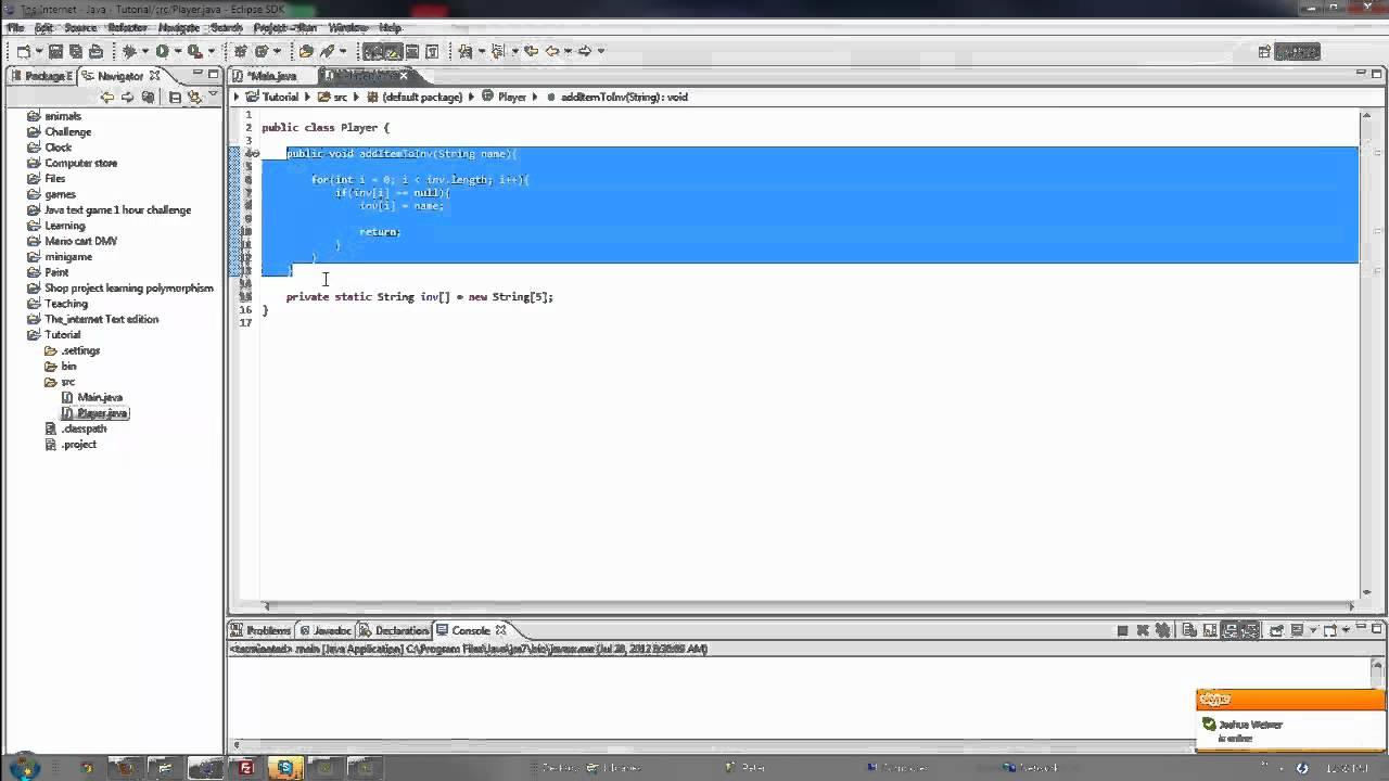 Java tutorial #29 Little inventory program