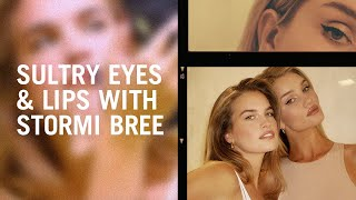 Sultry eyes and lips with Stormi Bree and Rosie Huntington-Whiteley