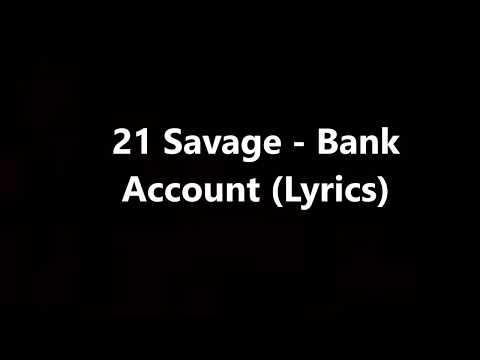 21 savage bank account lyrics