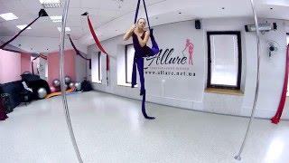 Воздушная акробатика для начинающих. Трюк Балерина