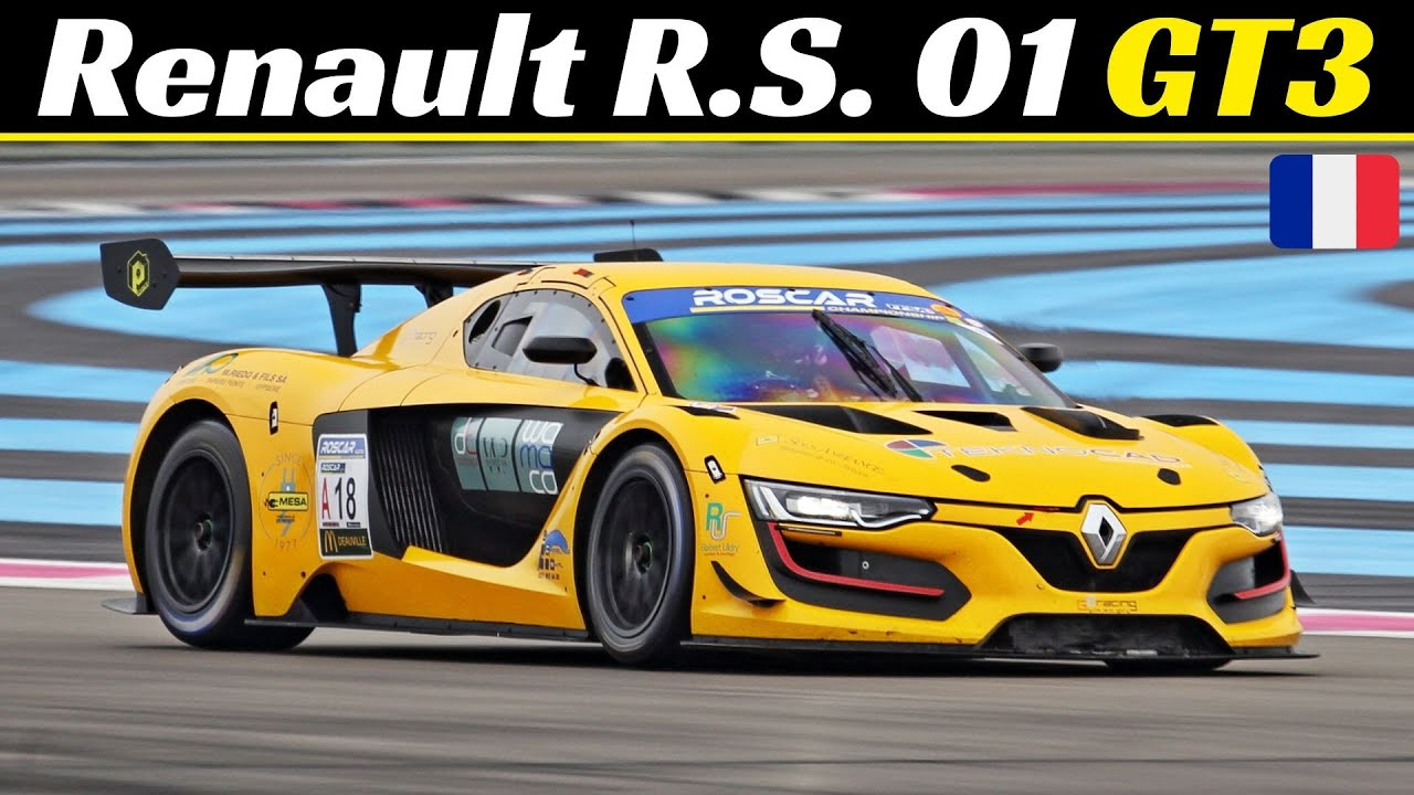 Renault R.S. 01 GT3 - Race Action & Fly-Bys at Paul Ricard Circuit - 500hp V6 Twin-Turbo Engine